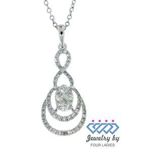 Natural Diamond Fancy Pendant Jewelry White Gold